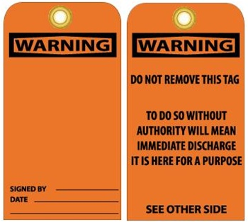 Warning Tags