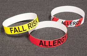 Color Coded Alert Medical Bands