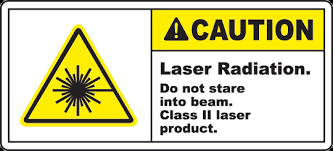 Laser Radiation Warning Label
