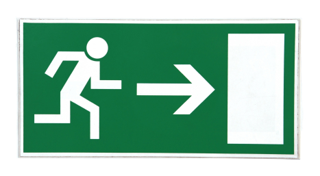 Push Pull and Exit Signs Labels