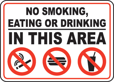Smoking and Drinking Area Sign Labels