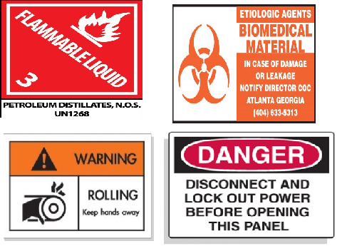Shipping Safety Sign Labels