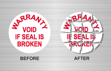 Warranty Void Seal Labels